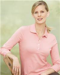 IZOD 13Z0083 Ladies'    Sleeve Silkwash Pique Sport Shirt