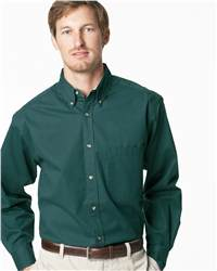 JERZEES J20 Long Sleeve Easy Care Peached Twill Shirt