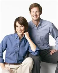 JERZEES J210 Ladies' Long Sleeve Denim Shirt