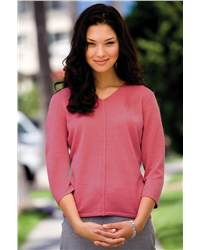 Jockey 58010 Ladies' 3/4 Sleeve Crepe Knit Sweater