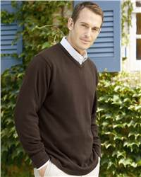 Jockey 58030 Fine Gauge V-neck Sweater with Tipped Trim