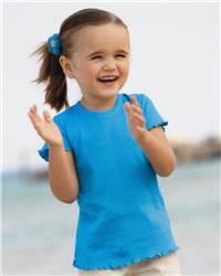Rabbit Skins 3332 Baby Rib Short Sleeve Tiny Tee with ...