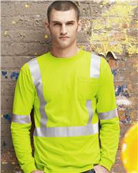 Red Kap Industrial SYK2HV High Visibility Long Sleeve Safety T-Shirt