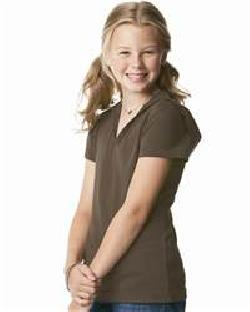 L.A.T Sportswear 2609 Girls' Fine Jersey Longer Length ...