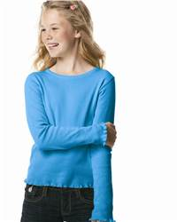 L.A.T Sportswear 2634 Girls' Baby Rib Long Sleeve Tiny T-Shirt