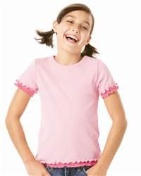 L.A.T Sportswear 2638 Girls' Ruffle T-Shirt
