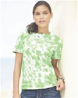 L.A.T Sportswear 3599 Ladies' Short Sleeve Tye-Dye T-...