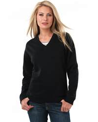 L.A.T Sportswear 3653 Ladies' French Terry V-neck Pullover
