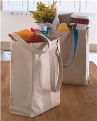 Toppers 0806 Cotton Tote w/ Contrast Handles