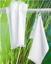 Towels Plus T60GH Fingertip Towel with Corner Grommet and Hook