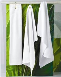 Towels Plus T68GH Hemmed Hand Towel with Gorner Grommet and Hook