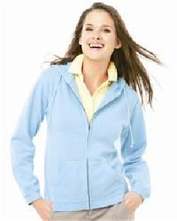 Weatherproof W7669 Ladies' Weatherwash Full-Zip Hooded Sweatshirt