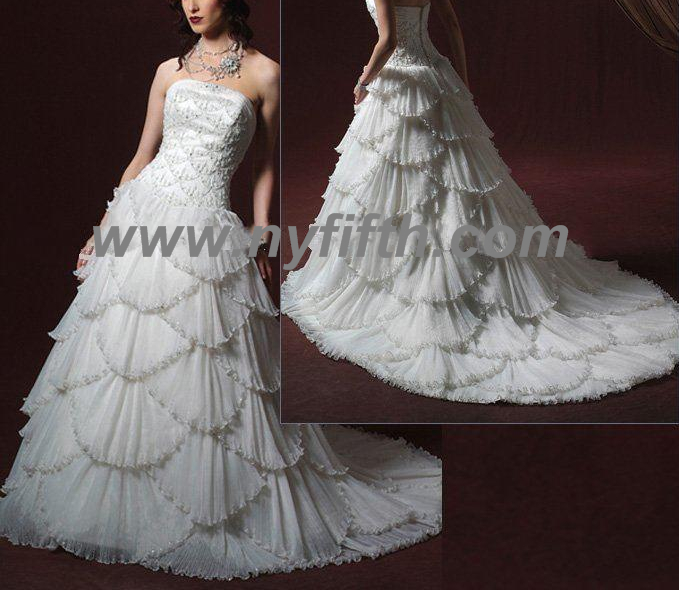 stylish custom bridal gown