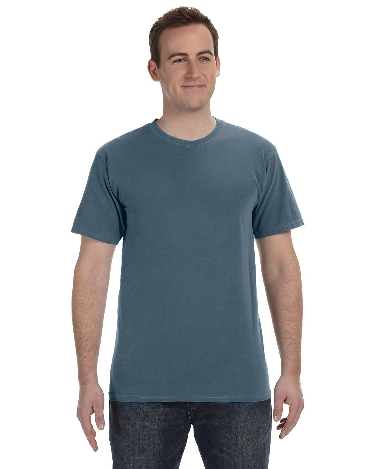 Authentic Pigment 1969 - 5.6 oz. Pigment-Dyed & Direct-Dyed Ringspun T-Shirt