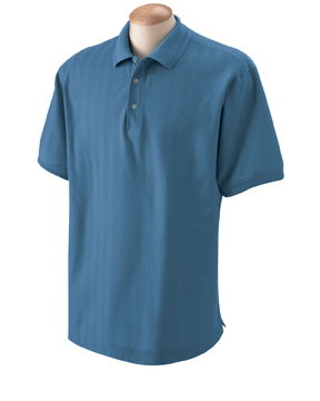 Devon & Jones D340 Men's Herringbone Polo