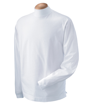 Devon & Jones D420 Sueded Cotton Jersey Mock Turtleneck