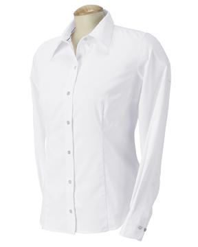 Devon & Jones D655W 女士左胸口袋长袖衬衣