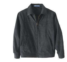 Harvard Square HS715 Back Bay Microsuede Bomber Jacket