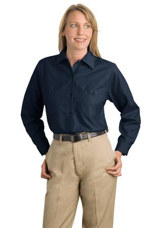 CornerStone® SP13 Ladies Long Sleeve Square Hem Industrial Work Shirt
