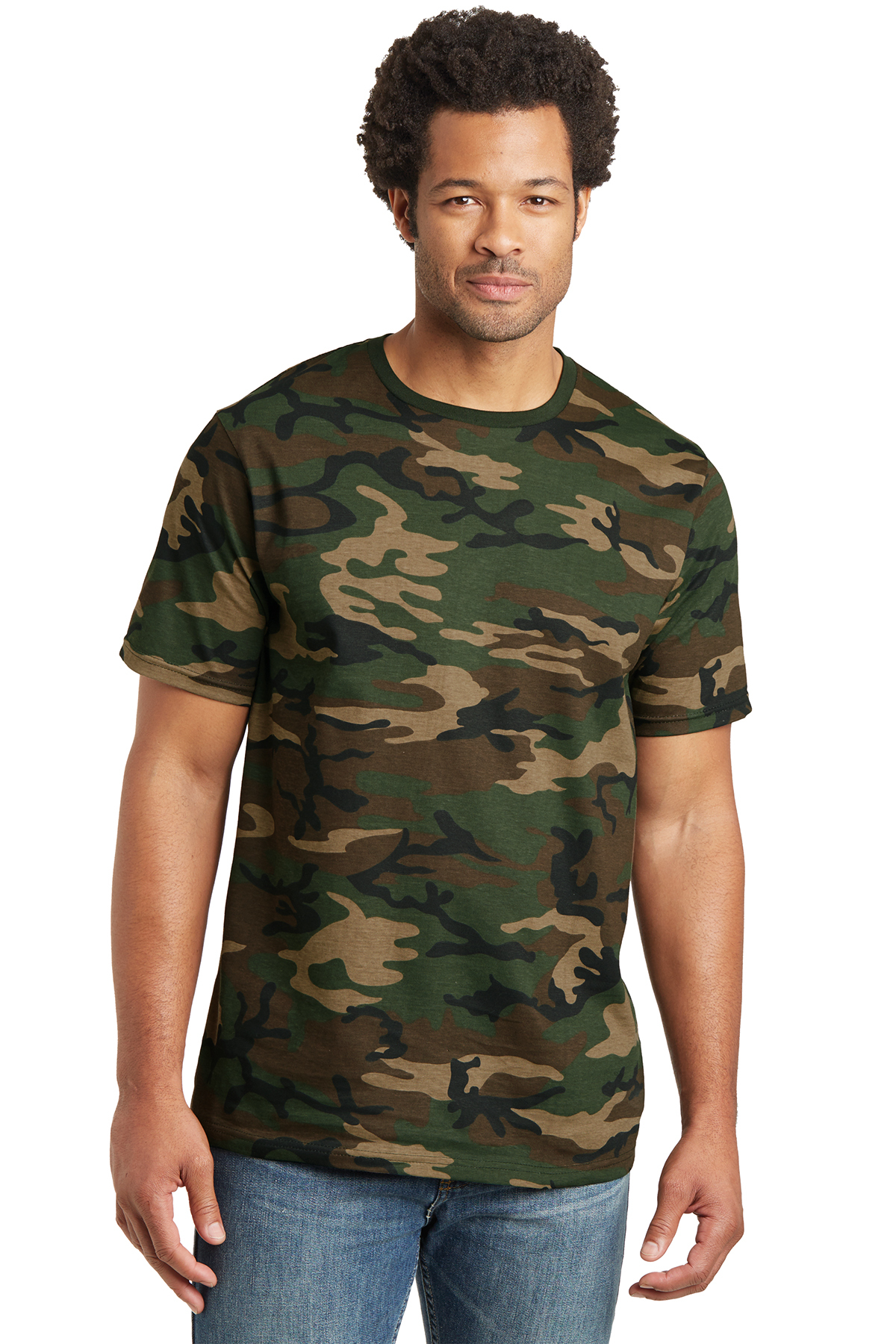 District Threads DT104C Camo Perfect Weight District Tee.