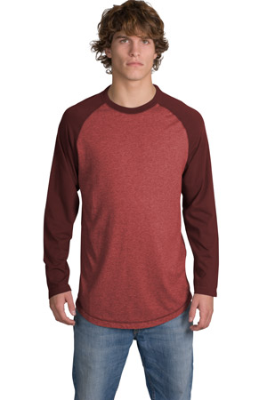 District Threads DT126 Heathered Jersey Long Sleeve ...