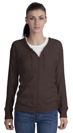 District Threads DT227 Junior Ladies Full Zip Hoodie.