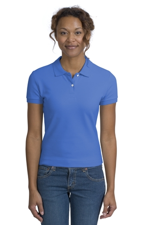 District Threads DT301 Junior Ladies Original Stretch Pique Polo.