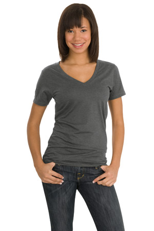 District Threads DT2170 Junior Ladies Perfect Weight V-Neck Tee.