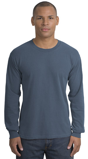 District Threads DT099LS Long Sleeve Pigment-Dyed Tee.