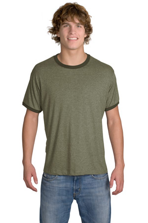 District Threads DT125 Perfect Weight Heathered Jersey Ringer Tee