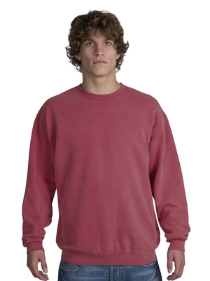 District Threads DT102 Pigment-Dyed Crewneck Sweatshirt.