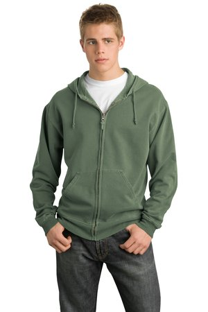 District® DT113 Pigment-Dyed Full-Zip Hoodie