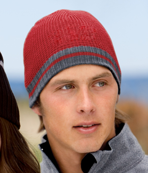 District Threads DT602 Waffle Beanie with Ribbed Edge.