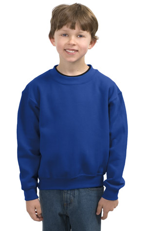 Gildan 18000B Heavy Blend Youth Crewneck Sweatshirt.