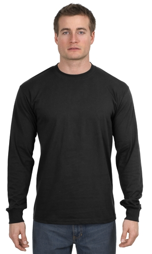 Gildan 5400 Heavy Cotton 100% Cotton Long Sleeve T-Shirt.