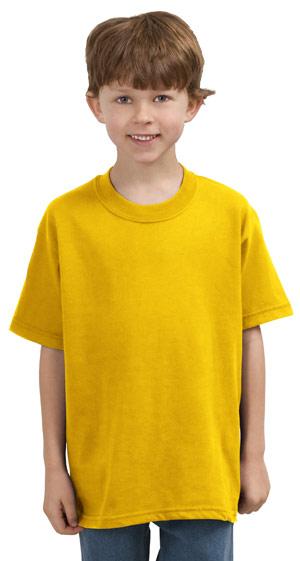 Gildan 5000B  Heavy CottonYouth 100% Cotton T-Shirt.