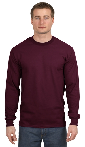 Hanes® 5186 Beefy-T® - 100% Cotton Long Sleeve ...