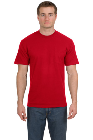 Hanes® 5190 Beefy-T® - 100% Cotton T-Shirt with Pocket