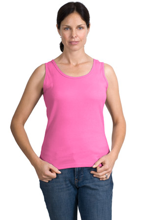 Hanes S14C  Silver for HerClassic Fit Wide Strap Tank.