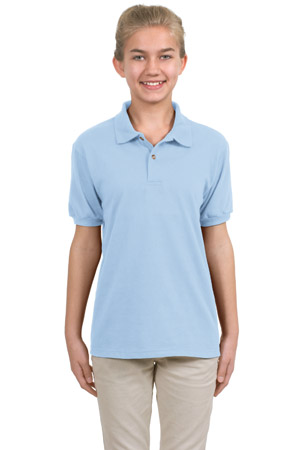 Hanes H360  StayCleanYouth 5.6-Ounce Jersey Knit Sport Shirt.
