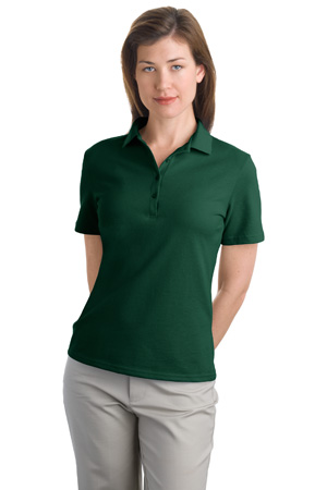 Hanes 035X Ladies 7-Ounce Pique Knit Sport Shirt