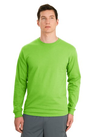 Hanes® 5586 Tagless® 100% Cotton Long Sleeve ...