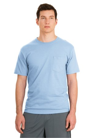 Hanes® 5590 Tagless® 100% Cotton T-Shirt with Pocket
