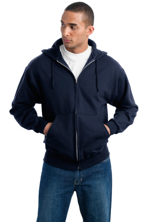 JERZEES Super SweatsFull Zip Hooded Sweatshirt.