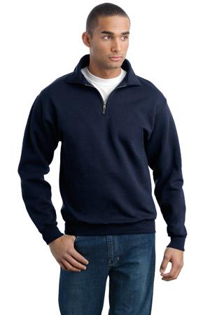 JERZEES SUPER SWEATS1/4 Zip Sweatshirt with Cadet Collar.
