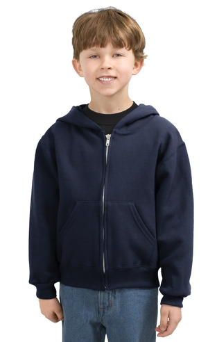 JERZEESYouth Full Zip Hooded Sweatshirt.