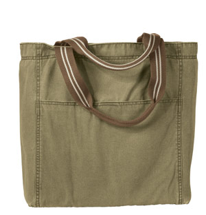 District Threads DT704 Distressed Canvas Tote.