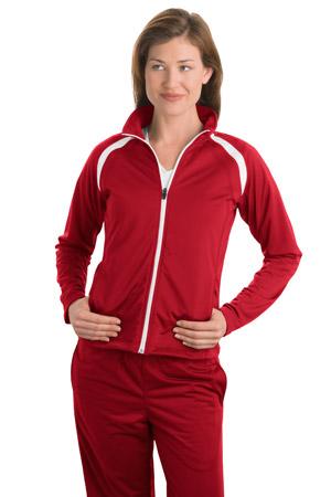 Sport-Tek® LST90 Ladies Tricot Track Jacket