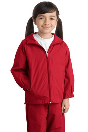 Sport-Tek® YST73 Youth Hooded Raglan Jacket