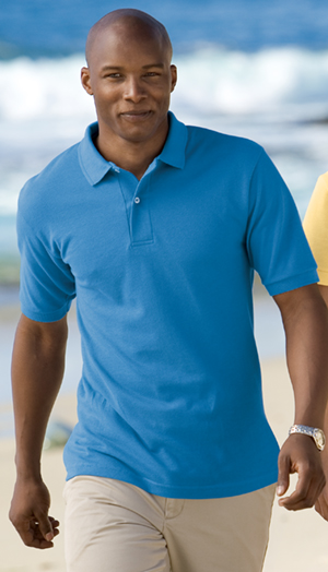 Outer Banks 2100  6.8-Ounce Pique Knit Sport Shirt.